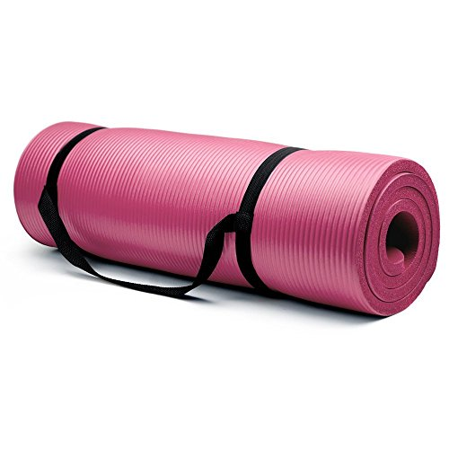 Crown Sporting Goods 5/8-Inch Extra Thick Yoga Mat with No Stick Ridge