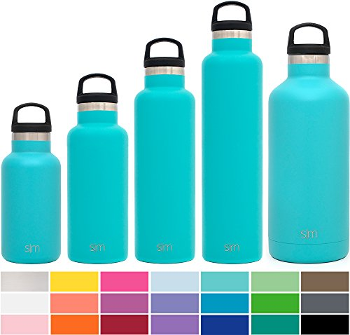 Simple Modern Ascent Water Bottle – Narrow Mouth, Vacuum Insulated, Double Wall, 18/8 Stainless Steel Powder Coated – 5 Sizes, 30+ Colors